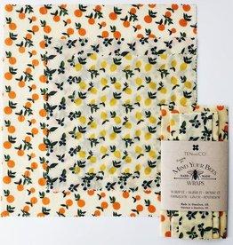 Emballage de cire d'abeille - Paquet de 3