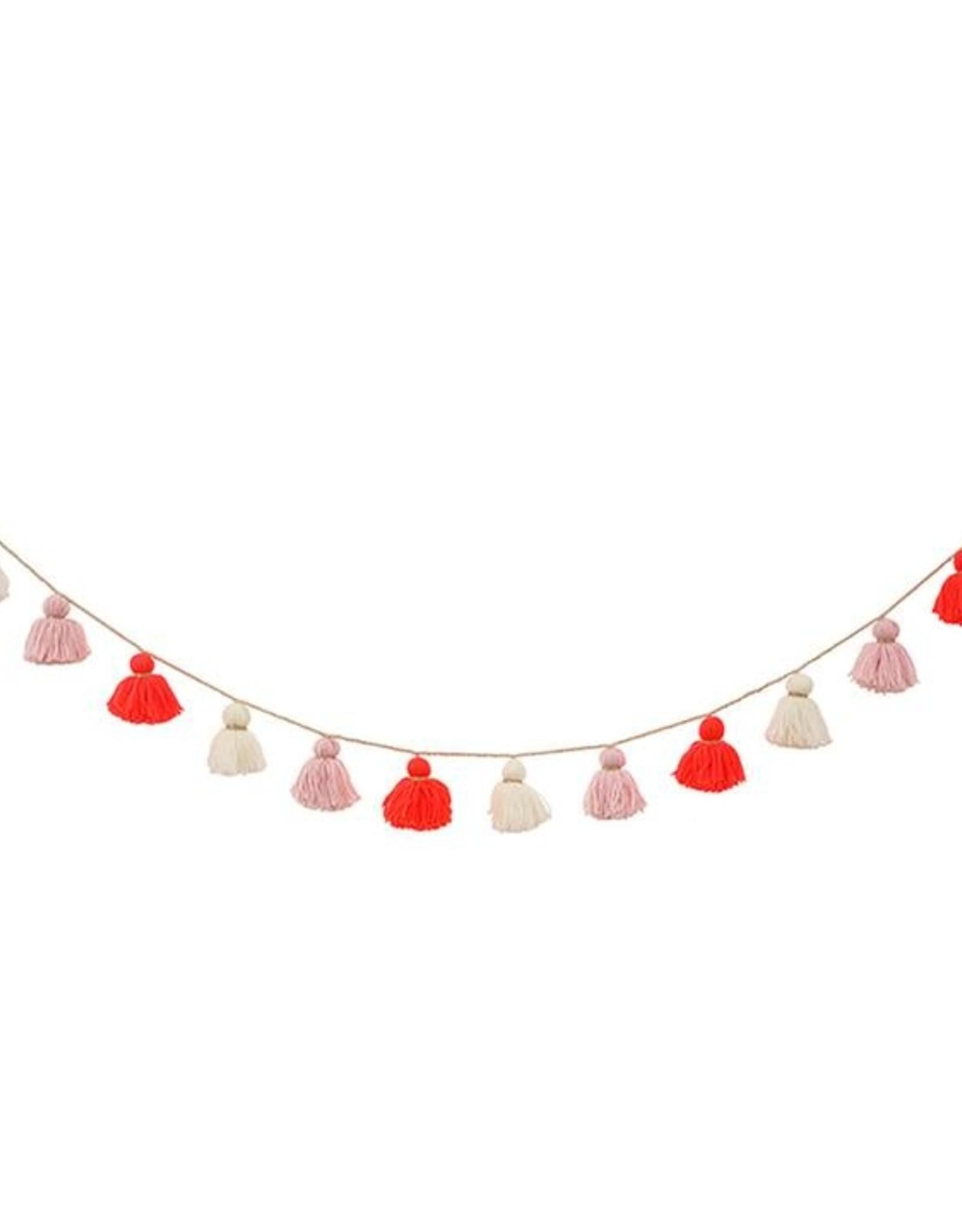 Meri Meri Wool Tassel Garland - Pink