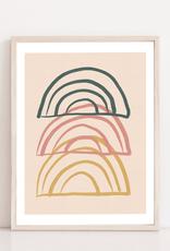 Toffie  Affichiste Affiche Trio Arcs-en-Ciel 8''x10''