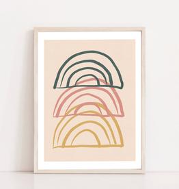 Toffie  Affichiste Print Trio Rainbows 8''x10''