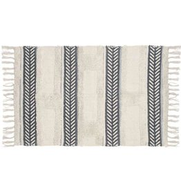 Beige Rug with Grey Patterns