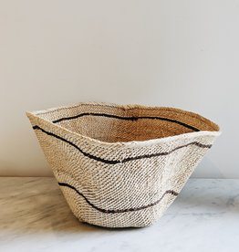Basket Natural and Brown Stripes