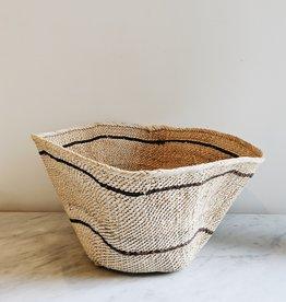 Basket Natural and Brown Stripes