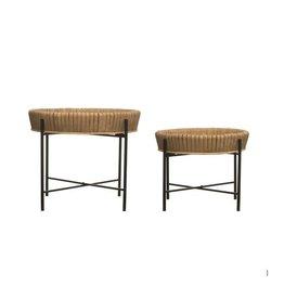 Table à plateau de bambou