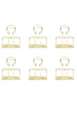 Brass Wire Clips Set Of 6