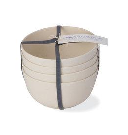 Bamboo Fiber Bowls - Set of 4 - Natural