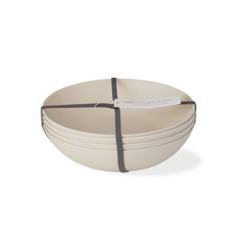 Bamboo Fiber Salad Plate - Set of 4 - Natural