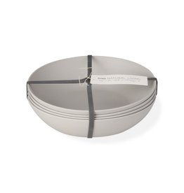 Bamboo Fiber Salad Plate - Set of 4 - Light Gray