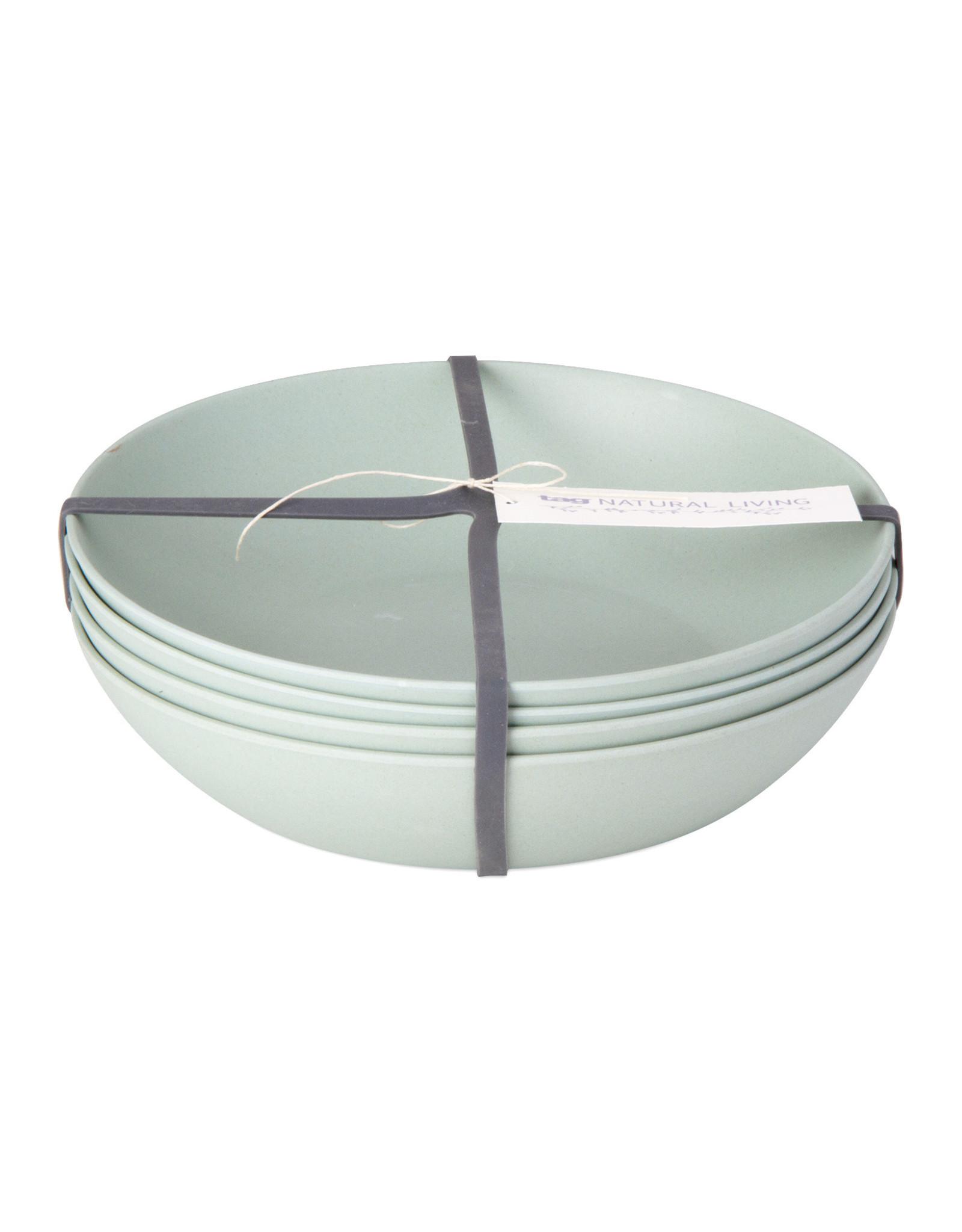Bamboo Fiber Salad Plate - Set of 4 - Aqua