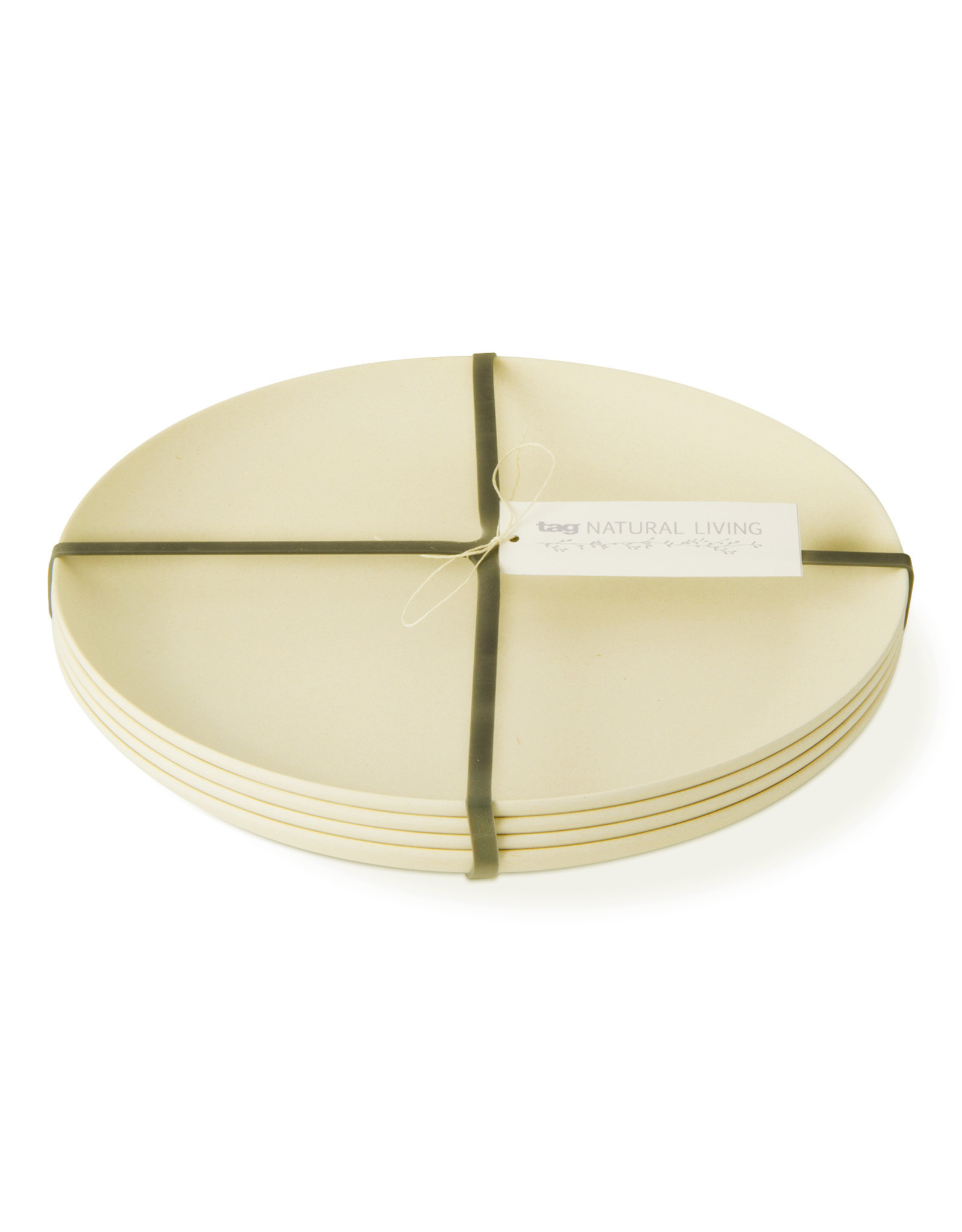 Bamboo Fiber Dinner Plate - Set of 4 - Natural