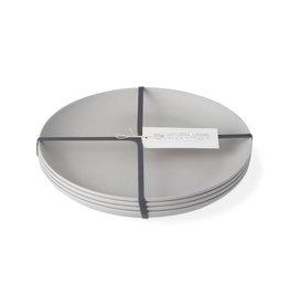 Bamboo Fiber Dinner Plate - Set of 4 - Light Gray
