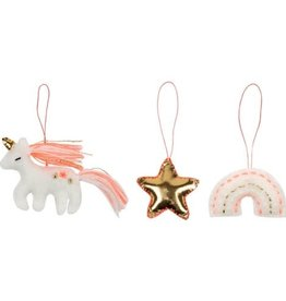 Meri Meri Mini Unicorn Tree Decorations Set