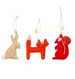 Meri Meri Forest Animals Tree Decorations Set