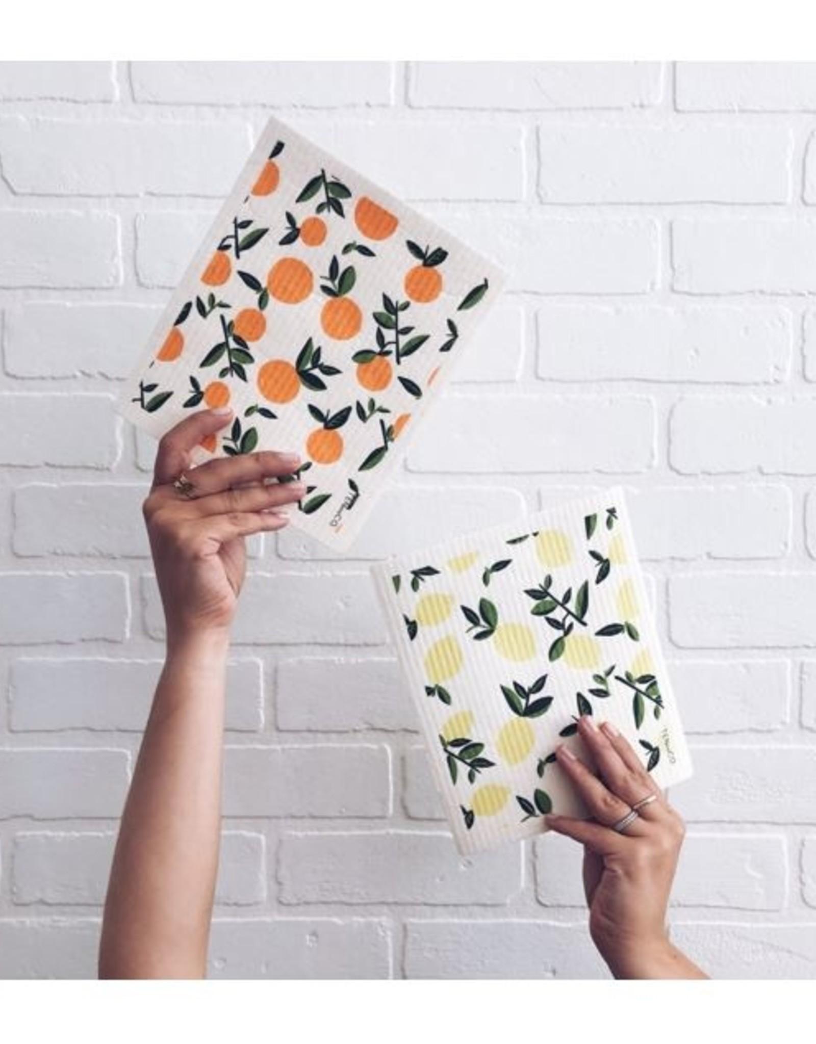 Ten and Co. Sponge Cloth Citrons - Lemons