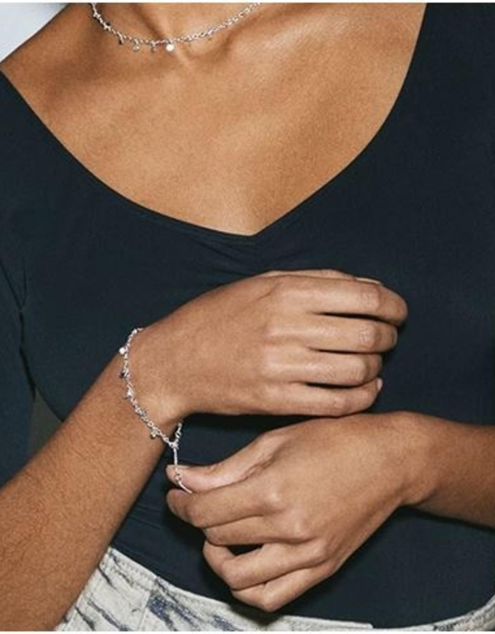 Pilgrim Bracelet Panna - Plaqué Argent
