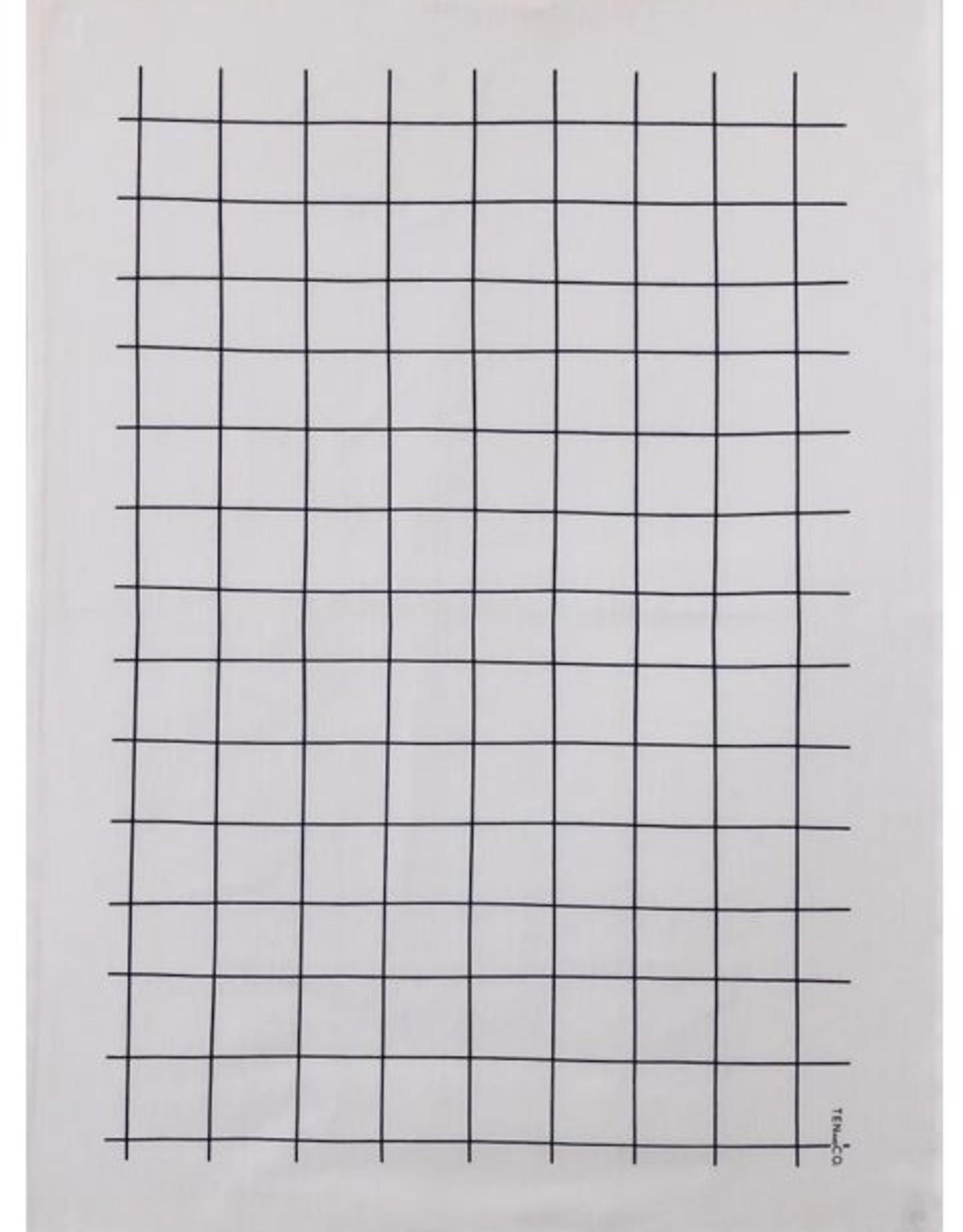 Ten and Co. Tea Towel - Black Grid