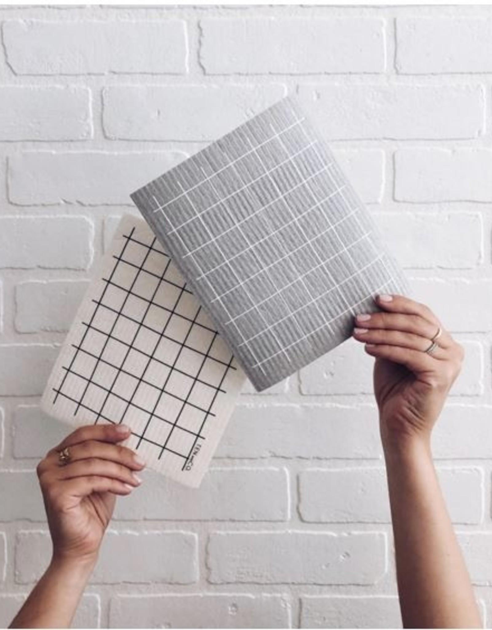 Ten and Co. Sponge Cloth Grid Gris - Grey