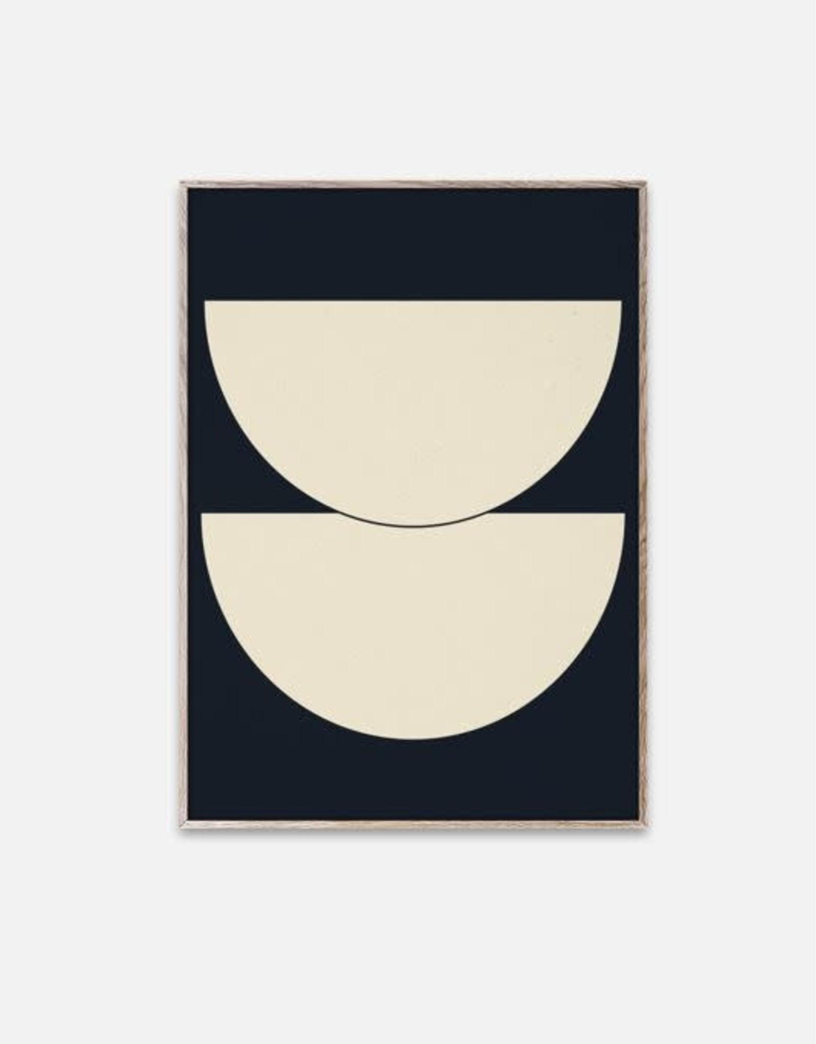 Paper Collective Half Circles I - Blue - 50x70cm