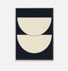 Paper Collective Affiche Demi Cercles - Bleu - 50x70cm