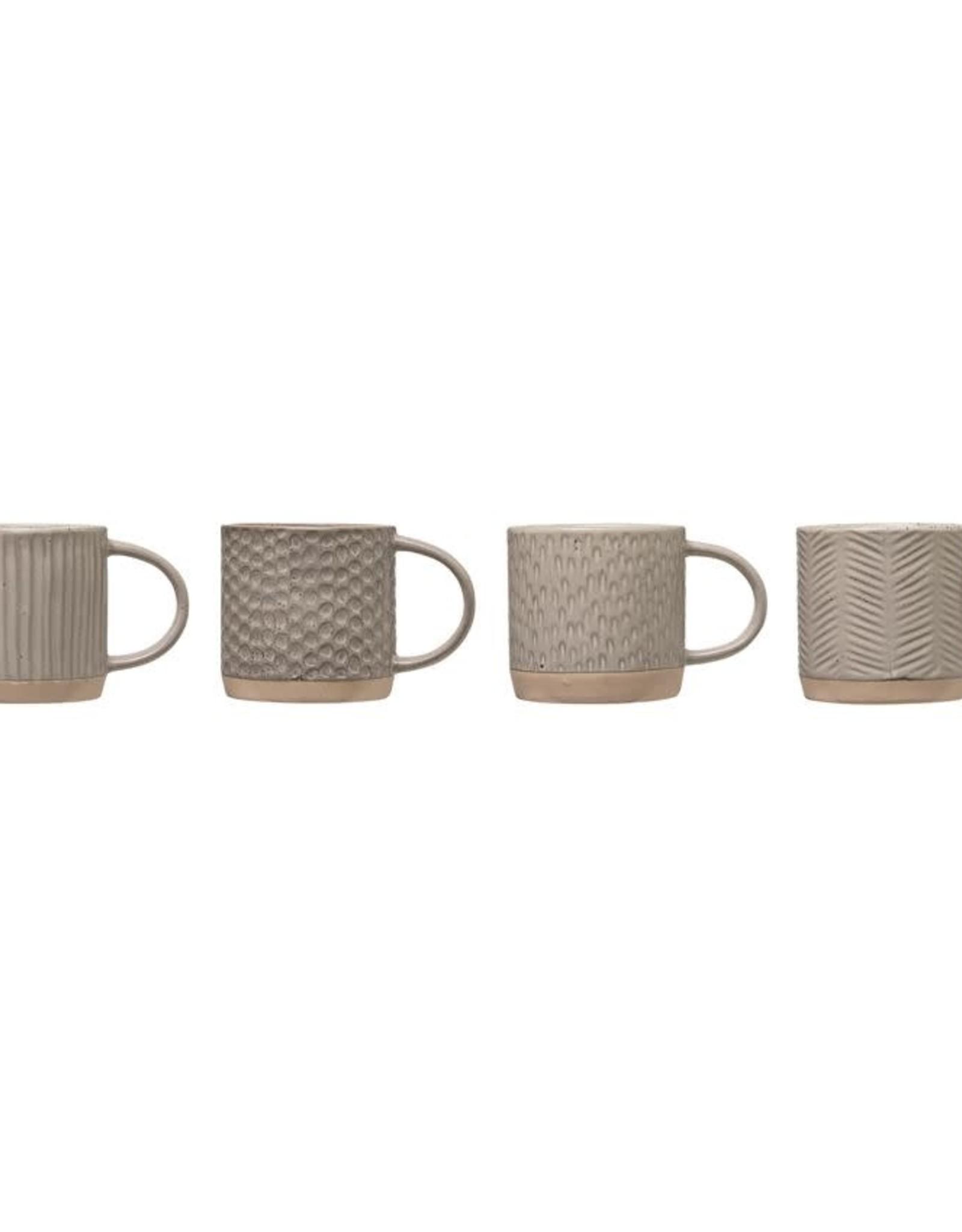 Tasse Texturée en Grès - Gris