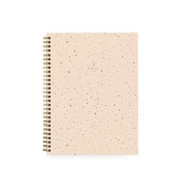 Baltic Club Large Spiral Notebook - Peach Terrazzo