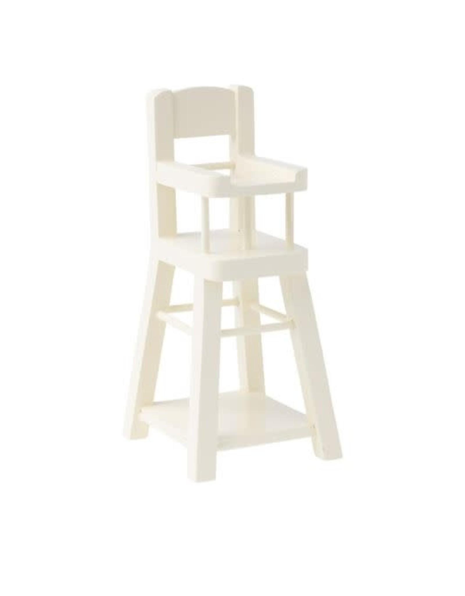 Maileg High chair, Micro - White