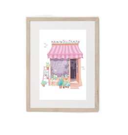 Hey Maca Art Print - Flower Shop