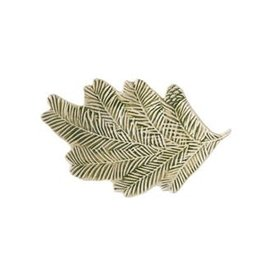 Debossed Stoneware Pine Bough Dish - Green
