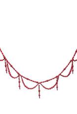Guirlande Perles de Bois - Rouge