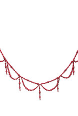 Wood Bead Swag Garland - Red