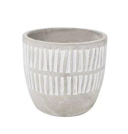 Nostalgia Vase Cement - White Lines
