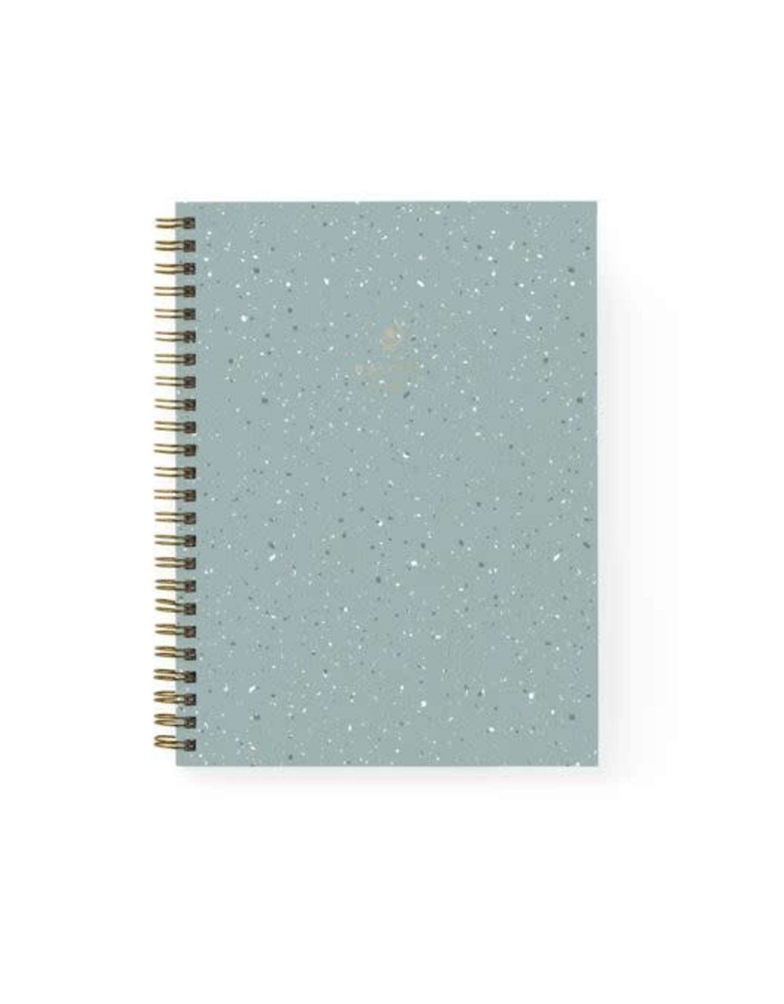 Baltic Club Spiral Notebook - Mint Terrazzo