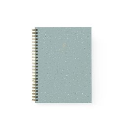 Baltic Club Spiral Notebook - Mint Terrazzo