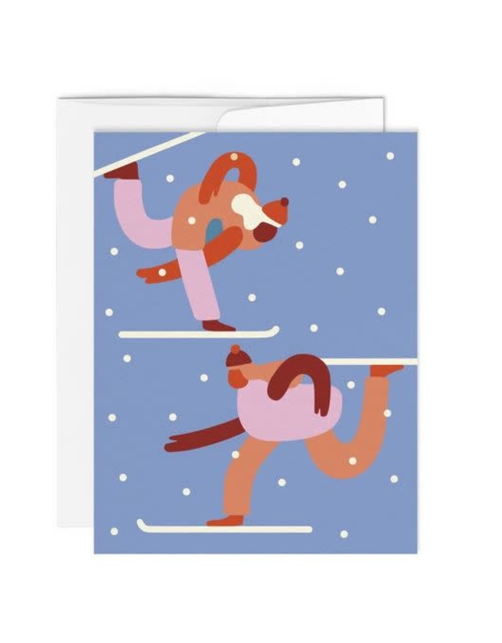 Paperole Greeting Card - Skieurs 2