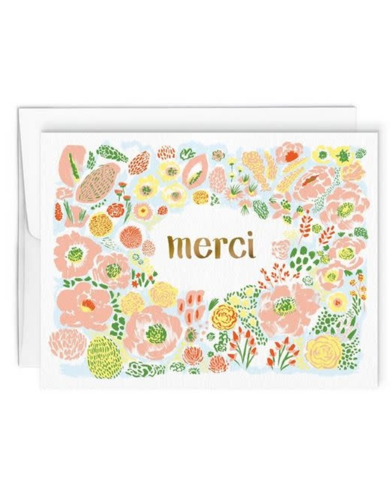 Paperole Greeting Card - Merci - by Gabrielle Lamontagne