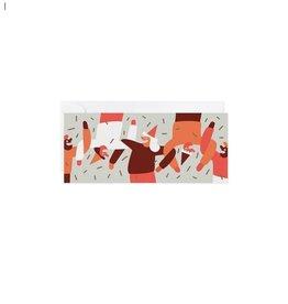 Paperole Greeting Card - Danse en ligne - by Cécile Gariépy