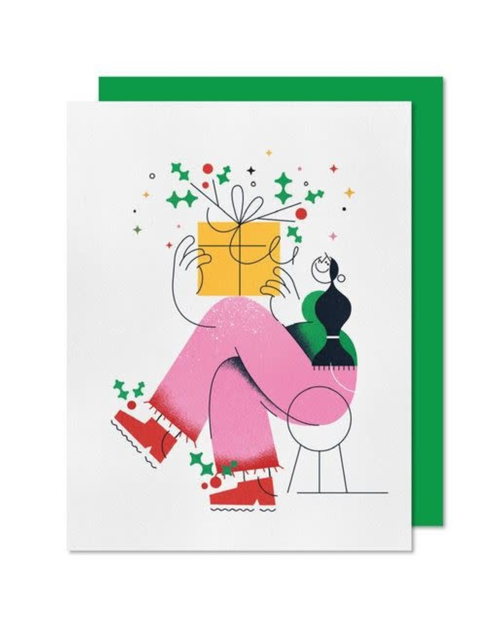 Paperole Greeting Card - Present - by Justyna Stasik