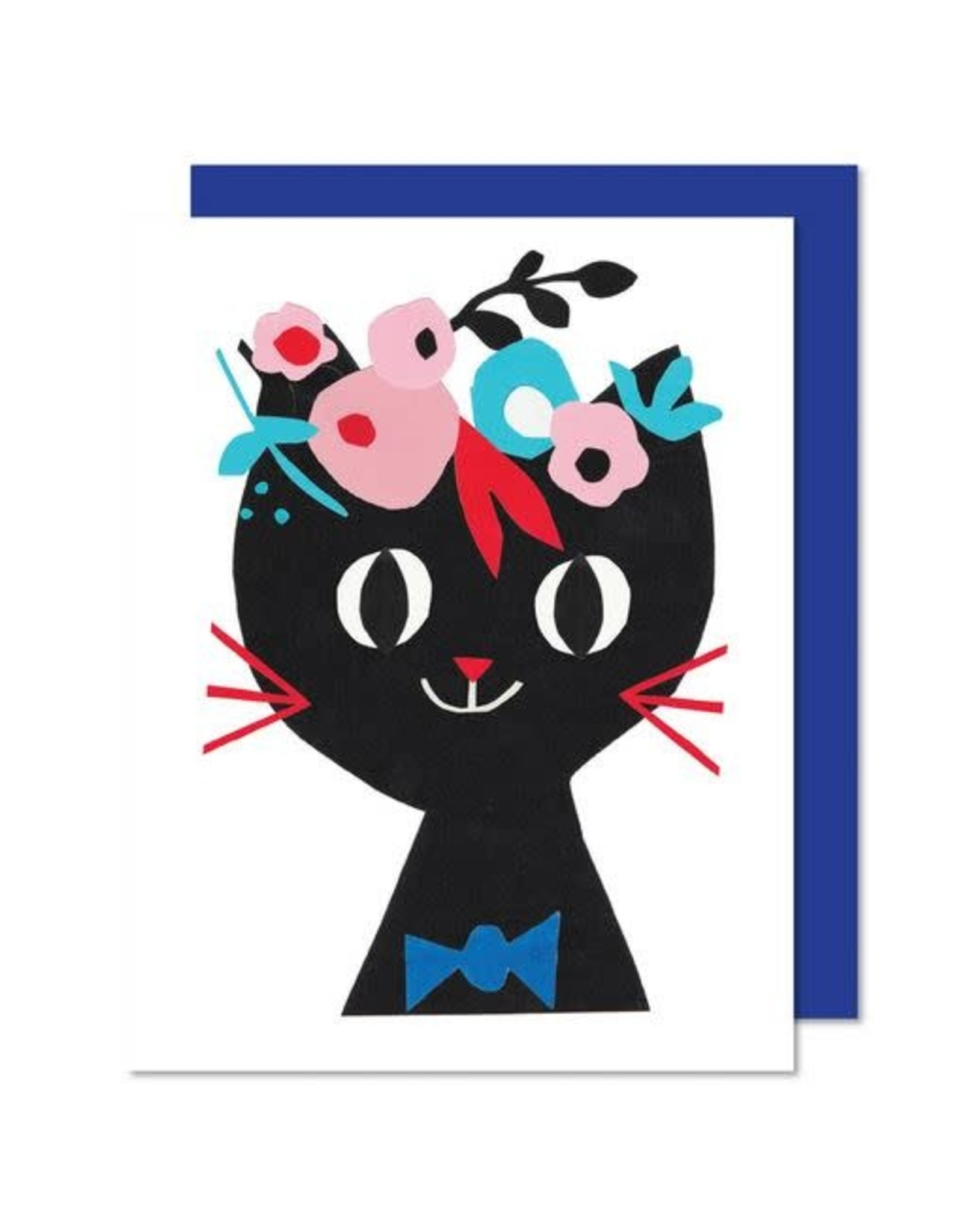 Paperole Greeting Card - Paper Cat - by Romina Sandrock