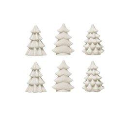 Stoneware Trees - White - Set of 6