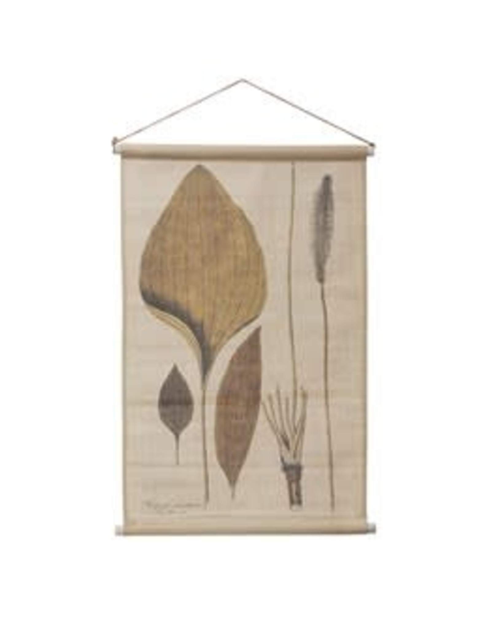 Linen and Wood Wall Scroll