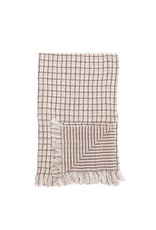 Kitchen Towel with Fringe - Red