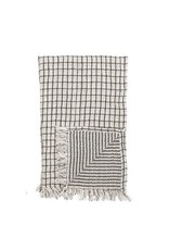 Kitchen Towel with Fringe - Black