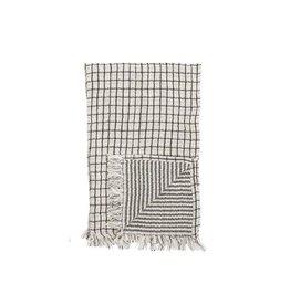 Kitchen Towel with Fringe - Black