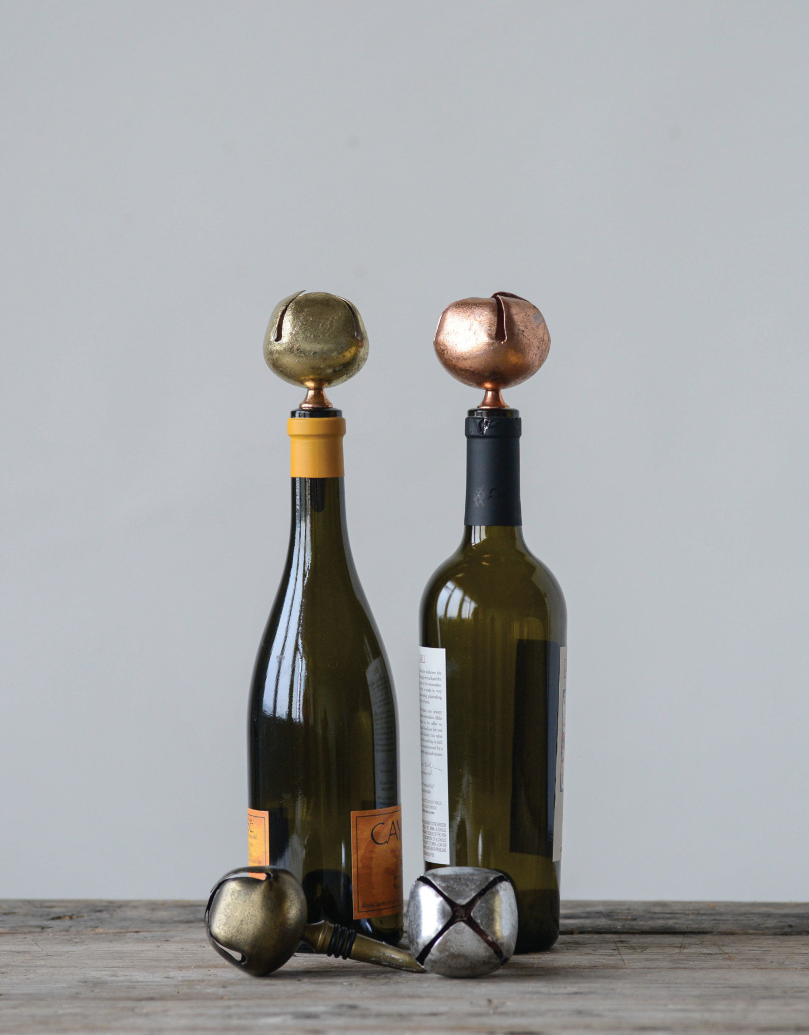 Metal Bottle Stopper w/Bell (by unit)