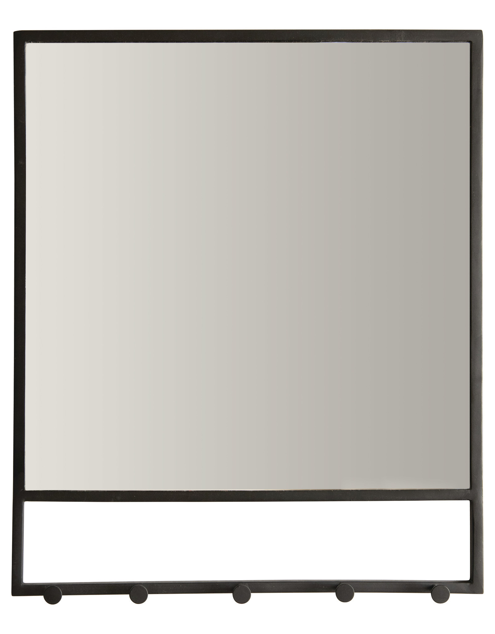 Metal Mirror w/ 5 Hooks