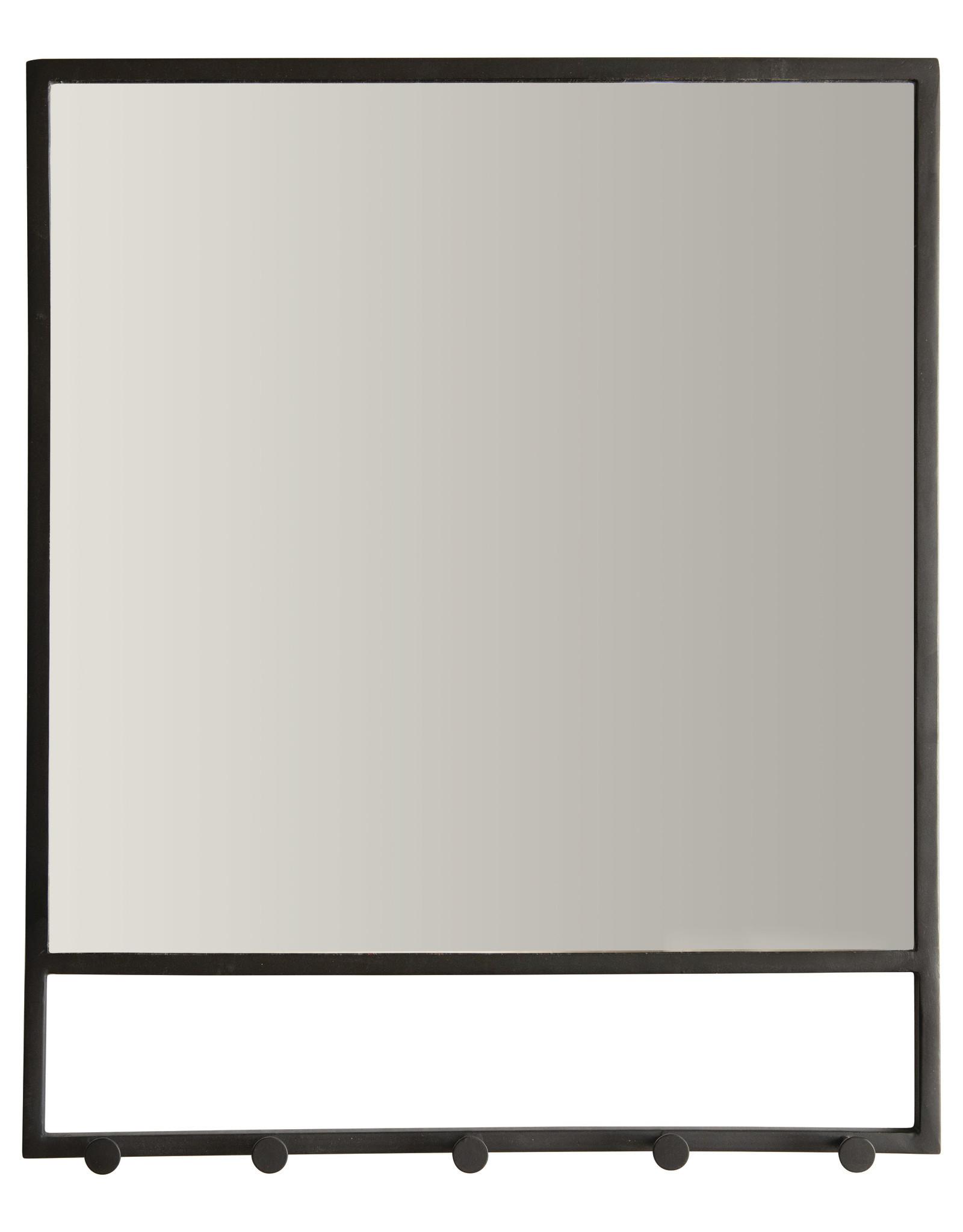 Miroir Métal avec 5 Crochets