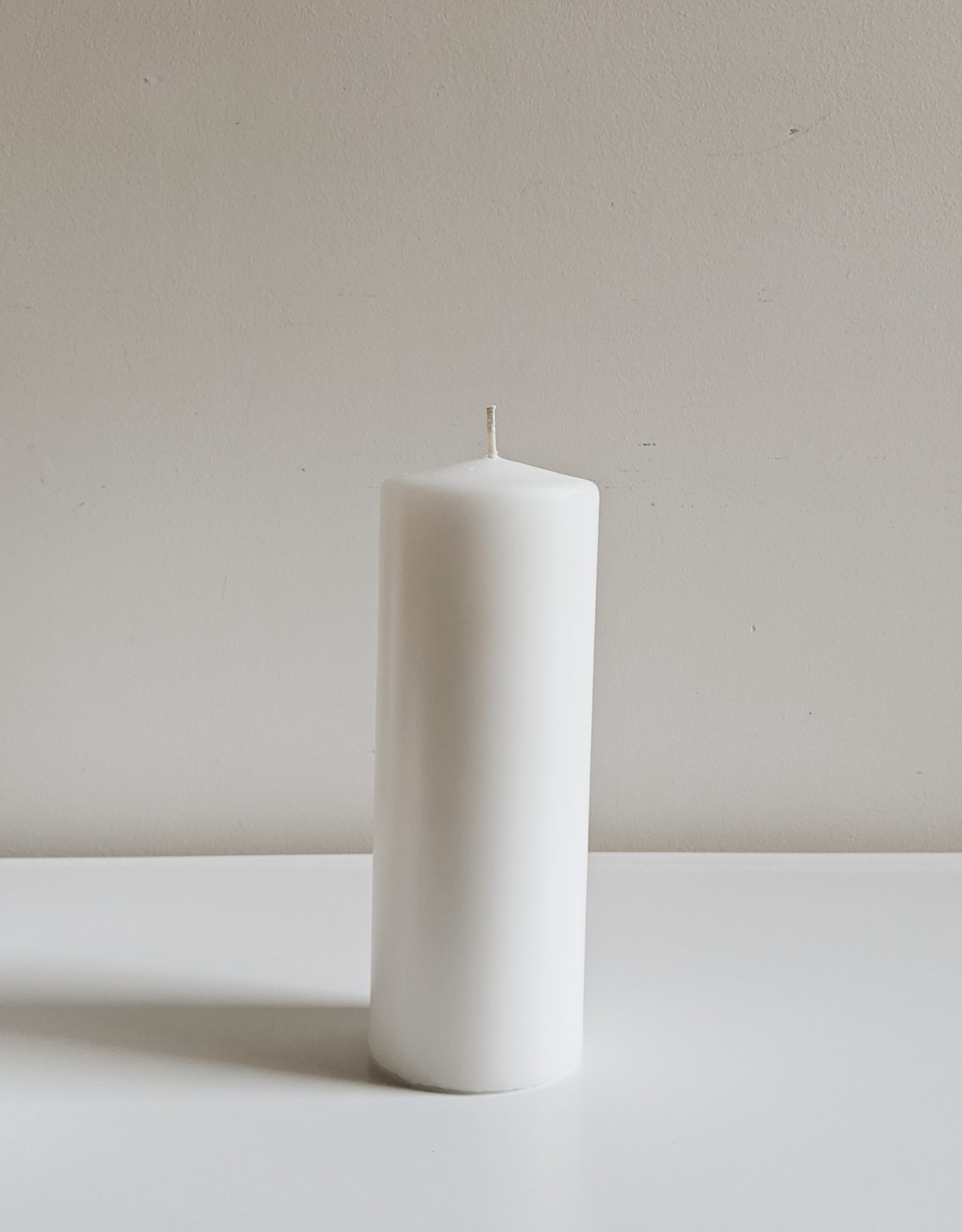 Bougie Pilier - Blanc