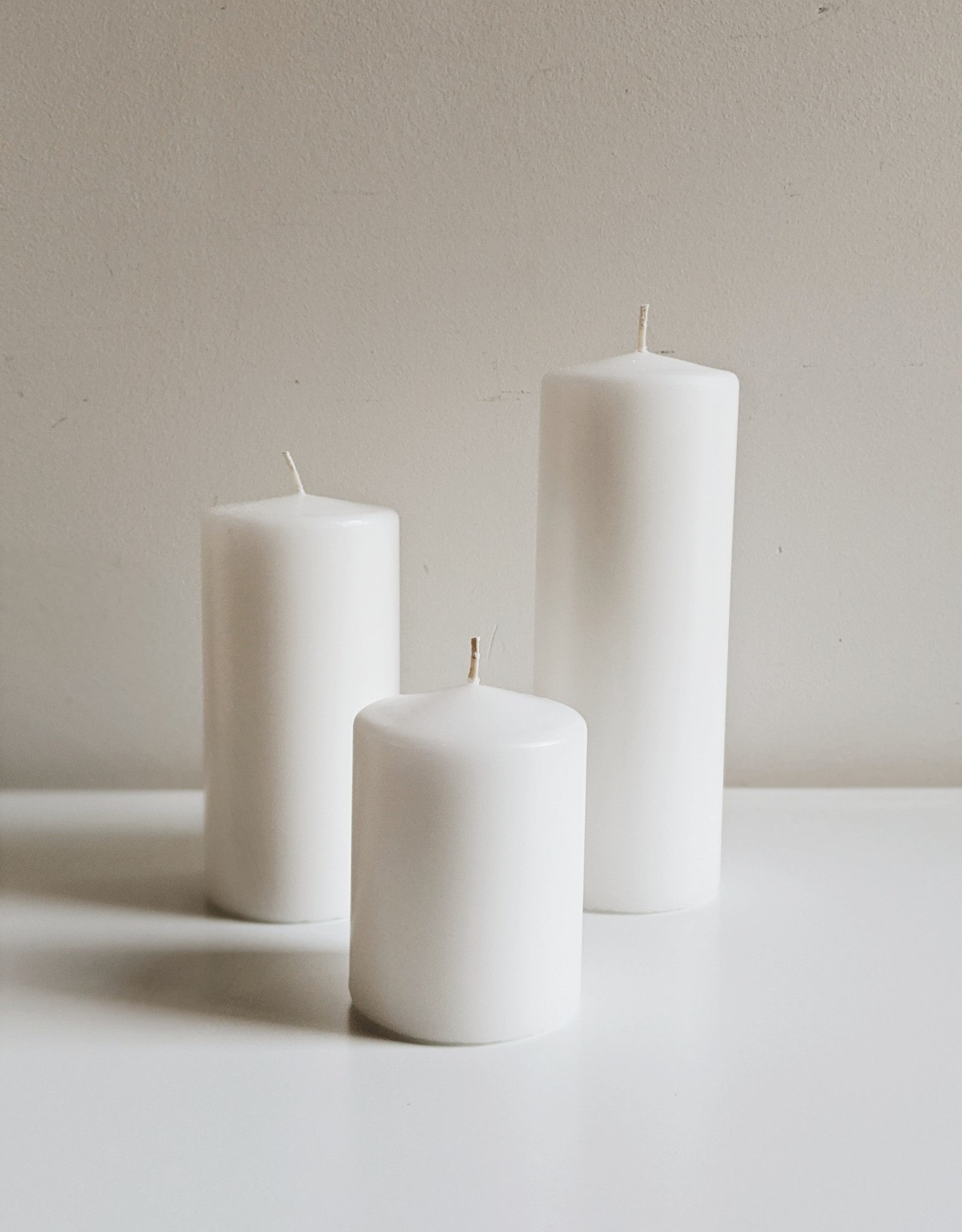 Pillar Candle - White