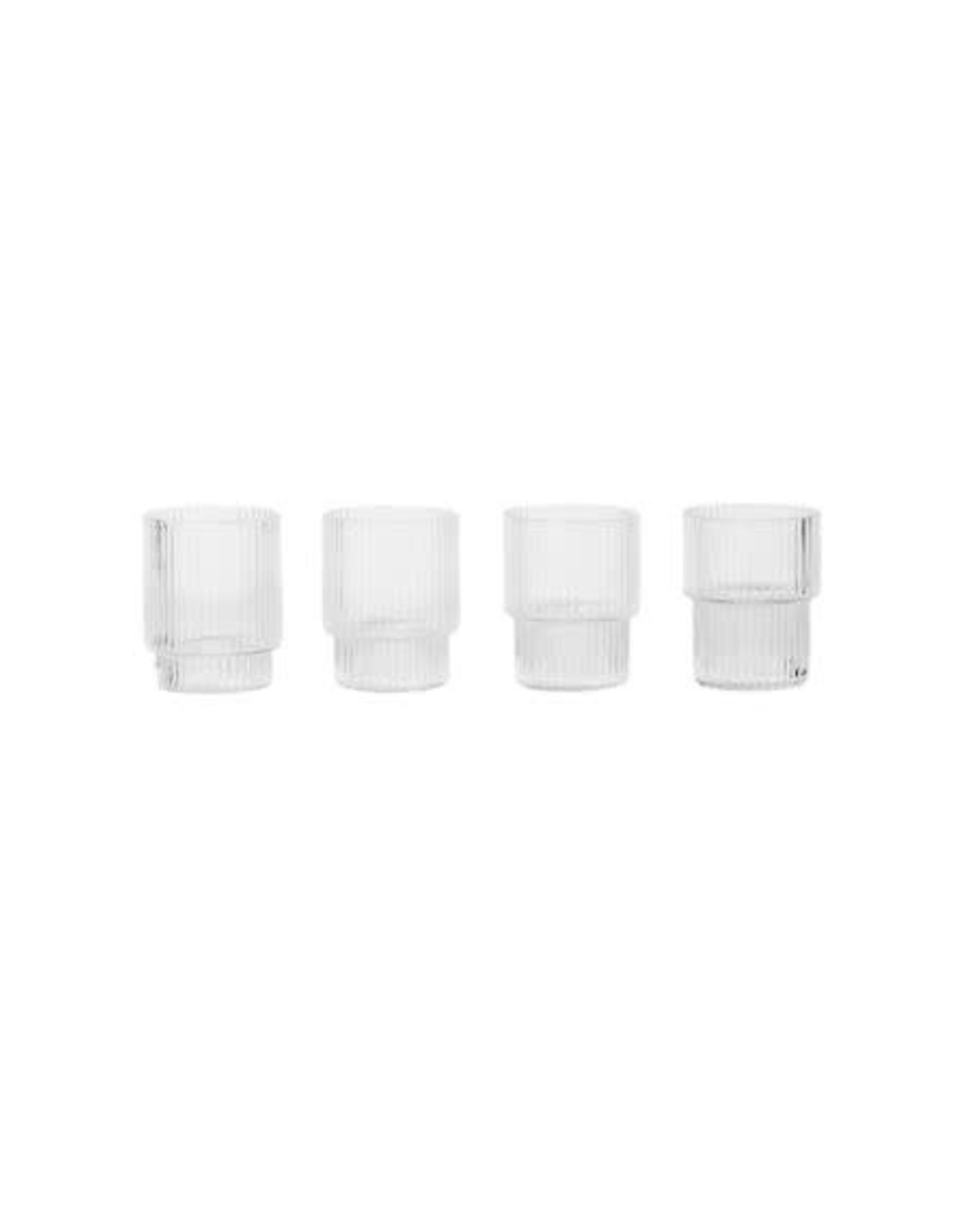 Ferm Living Ripple Small Glasses - Set of 4