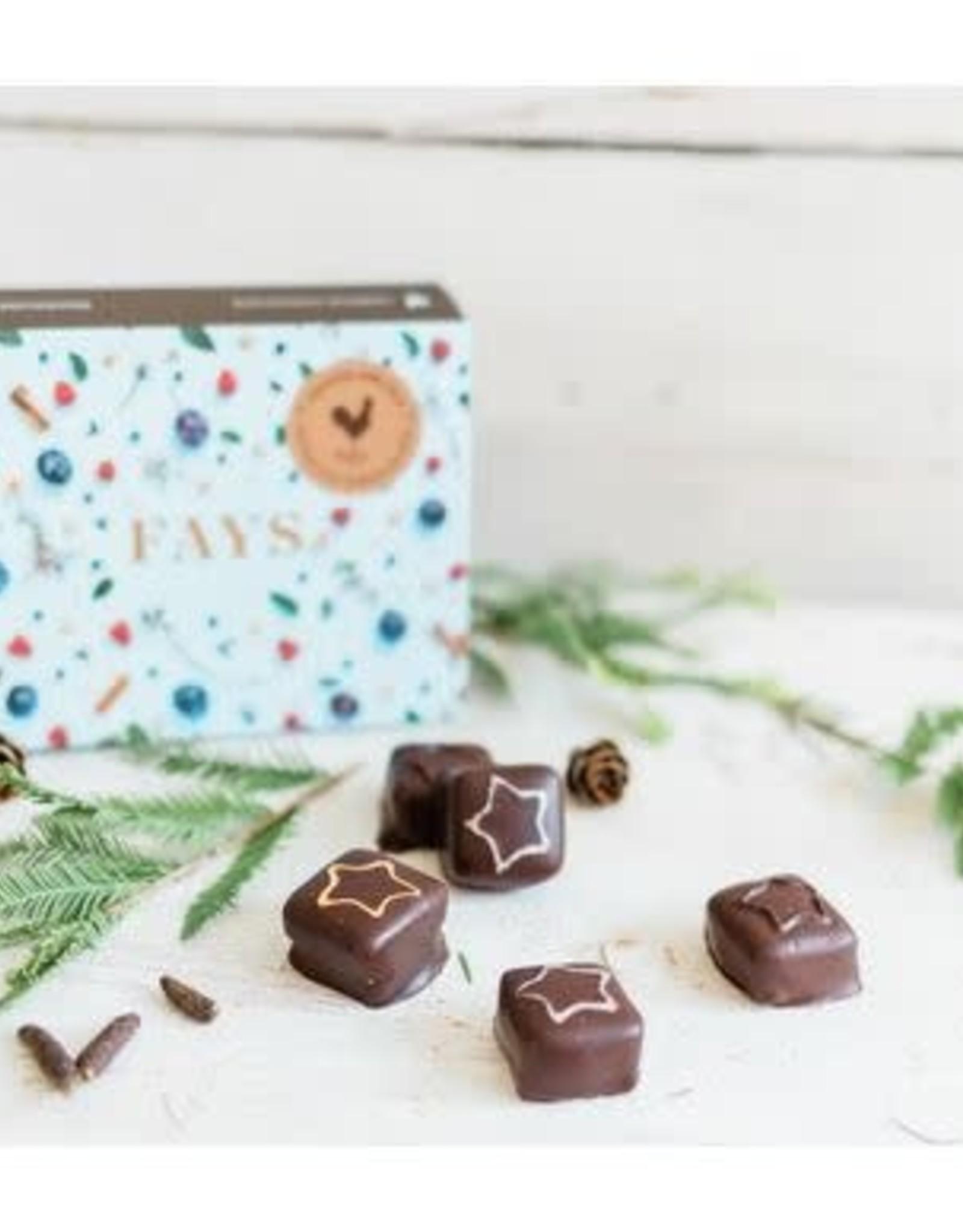 Fays Terroir Chocolaté Box of 6 Chocolates - Christmas Edition